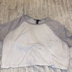 Grey and white crop top from forever 21